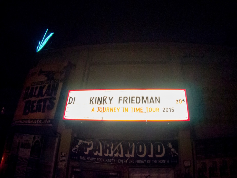 kinky friedman at lido